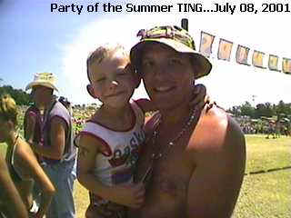 TINGing with DAD at Country Concert 2001, Ft. Loramie, OH
