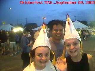 Even Chickens think Oktoberfest and TINGin' are Grrreat !!!